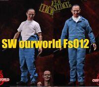 1//6 SWourworld Hannibal  FS012 Anthony Hopkins 2pc Head Carving 12/'/' Male Figure
