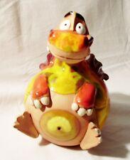 Garten Kugel Keramik Dekoration Figur Drache rot Handarbeit