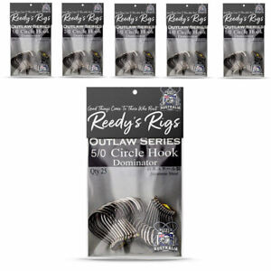 25x Hooks Circle 1,2,3,4,5,6,7,8/0  Octopus Dominator Reedys Bulk Pack Quality