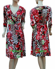 Knee Length Wrap Casual Floral Dresses for Women