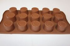Silicone Chocolate Mould Round Cup Shape Mould Jelly Ice Cube Soap Candle Tray