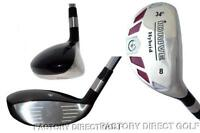 Custom Made Left Hand #8 Hybrid Taylor Fit Senior Graphite Iron Wood iDrive 34°