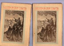 la vita di Gesu' cristo - don ferdinando maccono - salesiano -2 volumi -1928
