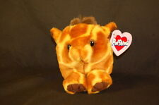 """Ginger the Giraffe Puffkins #6642 Swibco 4"""" Lovey Stuffed Animal Toy Vintage Tag"""