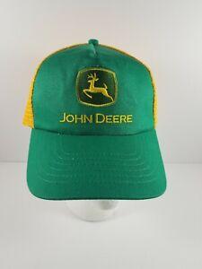 John Deere Green with Yellow Snapback Adjustable Hat Cap Trucker Hat
