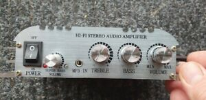 12V Audio Amplifier - Mini Hi-Fi Amplifier Mini Hi-Fi Audio with power adapter