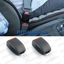 2 Pcs SUV Seat Belt Extender Safety Eliminator Alarm Stopper Buckle Insert Clips