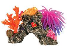 Arrecife De Coral Y Anémona Ornamento del acuario coloridos peces tanque Cueva Decoración