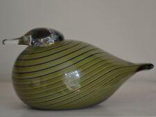 OIVA TOIKKA WHIP POOR WILL BIRD FOR IITALIA- mouth blown Finnish glass Finland