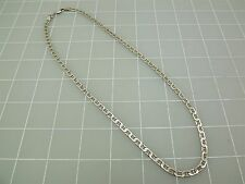 """Sterling Silver 925 LINK Neck Chain Necklace 21""""Long 18.8Grams Needs Jump Ring"""