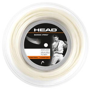 Head sonic Pro 1.25/17 White Tennis string 200M Reel