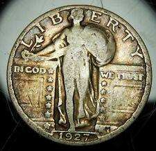 1927 S Standing Liberty Quarter - Nice VG !!