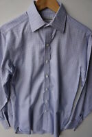 Turnbull & Asser Shirt Size 15 (M) Blue Rigid Cotton