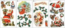 SANTA CLAUS WALL DECALS 22 New Holiday Decor Stickers Christmas Decorations