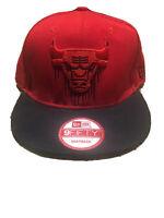 Chicago Bulls Mitchell & Ness NBA Red Black Drip snapback Hat Cap Green Bill HWC