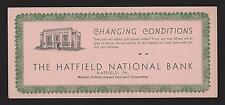 Hatfield National Bank, PA Charter #13026, National Bank Advertising Blotter!