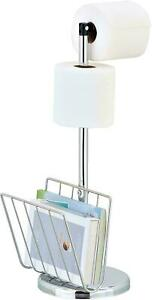 Freestanding Toilet Roll Holder - Stylish & Practical Design by Pristine