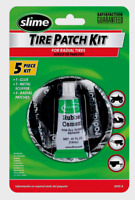 Slime Radial 5pc TIRE PATCH KIT Glue Scuffer Patches Tubeless Repair ATV 2030-A