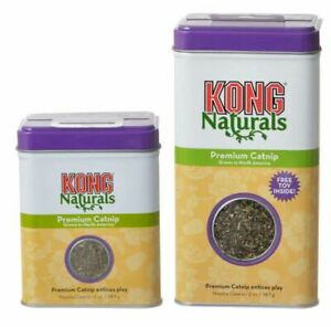 KONG CATNIP Naturals Premium Entices Play & Gives Cats Pleasure 1oz or 2oz Tin