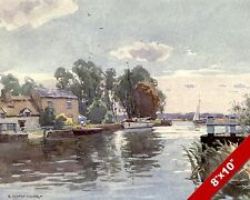 HORNING FERRY ON BURE ENGLAND ENGLISH LANDSCAPE ART PAINTING REAL CANVAS PRINT