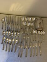 Vintage wm a rogers oneida ltd Set 45 Pieces Silverware