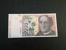 BILLETE DE 5000 PESETAS DEL AÑO 1992.DE CRISTOBAL COLON. S/C. (SIN SERIE)