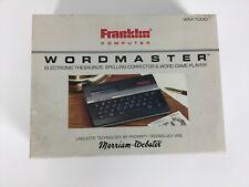 Franklin Wordmaster Wm-1000 Pocket Electronic Speller Thesaurus
