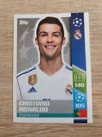 Topps Champions League  2017 2018 20 Cristiano Ronaldo Real Madrid 17 18 Panini
