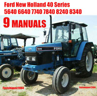 New Holland 7840 8240 8340 5640 40 Tractors Service Manual Operators Maintenance