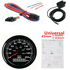 "3-3/8"" GPS Speed Sensor Odometer Speedometer Gauge Black Bezel Red LED Backlight"