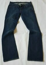 Ladies ABERCROMBIE AND FITCH Bootfit Stretch Jeans W27 L34 Blue Bootcut 27x34