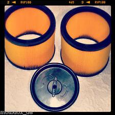 2 filtre + couvercle D 'Aspirateur Parkside PNTS 1500 a1 b2 Permanent Rond Plissé