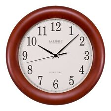 "WT-3122A La Crosse Technology 12.5"" Atomic Analog Wall Clock"