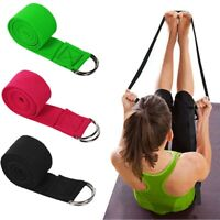 Women Fitness Accessories Exercise Gym Rope Yoga Stretch Strap D-Ring Belt