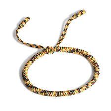 3PCS/Set Tibetan Buddhist Handmade Knots Lucky Rope Bracelet Adjustable Unisex