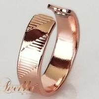 ATTRACTIVE & SHINY SOLID PURE COPPER MAGNETIC RING ARTHRITIS SIZE 6-8  CR03B