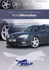 Ford Mondeo Wolf Individualprogramm Prospekt 11/03 brochure Auto PKW 2003 Europa