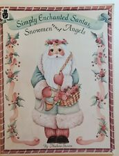 Decorative Tole Painting Book Simply Enchanted Santas Snowmen & Angels Christmas
