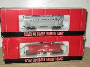ATLAS HO SCALE PS2 HOPPER & COTTON BELT CABOOSE