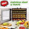 Food Dehydrator 6-Tier Stainless Steel Fruit Jerky Meat Dryer Blower Commercial.