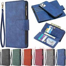 for iPhone 12 Pro Max Mini 11 XR SE 8 7 6s Detachable Wallet Leather Case Cover