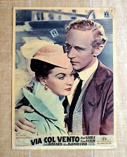 VIA COL VENTO locandina poster Rossella O'Hara Wilkes Gone with the Wind Q32