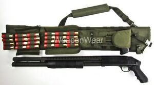 OD Green Rifle or Shotgun Scabbard SLING Pistol Pouch & Shell Pouch Included