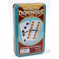 Pressman Toy International Double 12 Colour Dot Dominoes in Tin