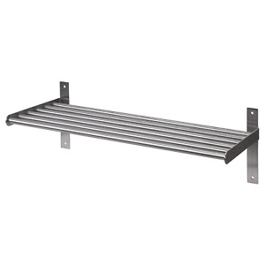 Ikea GRUNDTAL Kitchen Home Wall Shelf Rack Holder,Stainless Steel,Multi Use,60cm