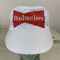 BUDWEISER BEER - NWOT Vtg 70s-80s White Painter Workwear Hat Cap - MUST SEE!