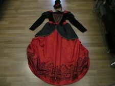 girls vampire dress with hoop age 11-12 years