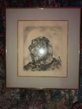 Marc Chagall Elijah Mount Carmel Original Etching Artwork