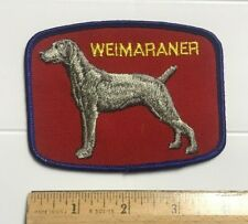 Weimaraner Grey Hunting Dog Breed Souvenir Embroidered Patch Badge