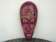 Lombok Tribal Mask Wooden Hand Carved & Painted Hard Wood..